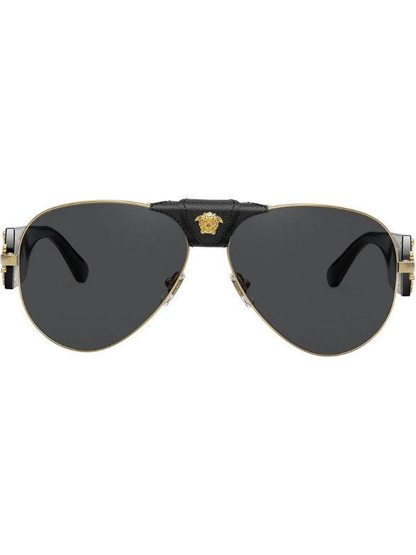 Versace Eyewear Medusa Head aviator sunglasses in black