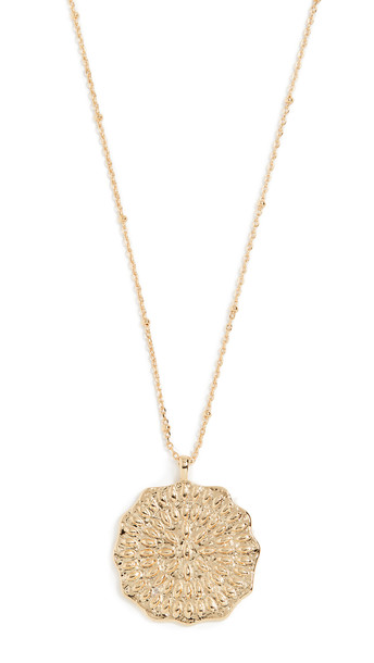 Gorjana Mosaic Coin Necklace in gold