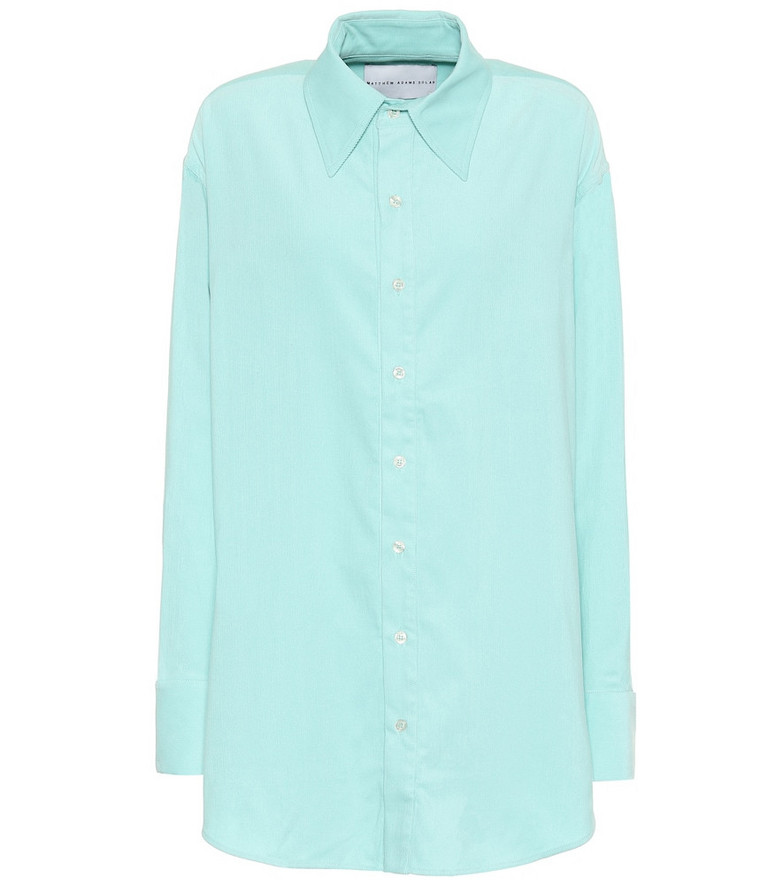Matthew Adams Dolan Cotton-corduroy oversized shirt in green