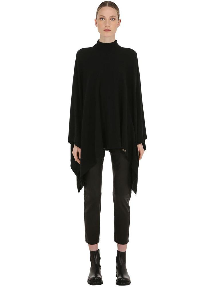BELSTAFF Engineered Wool & Cashmere Cape in black
