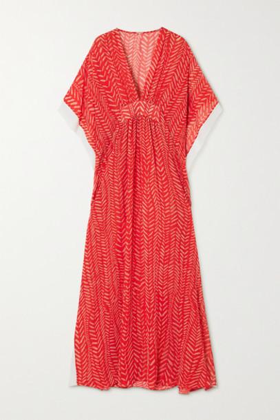 Johanna Ortiz - Seychelles Printed Woven Maxi Dress - Red