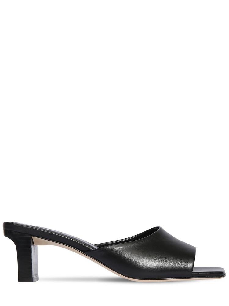 AEYDE 55mm Katti Leather Mule Sandals in black