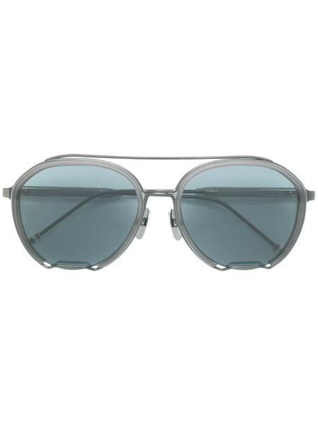 Thom Browne Eyewear round sunglasses in black