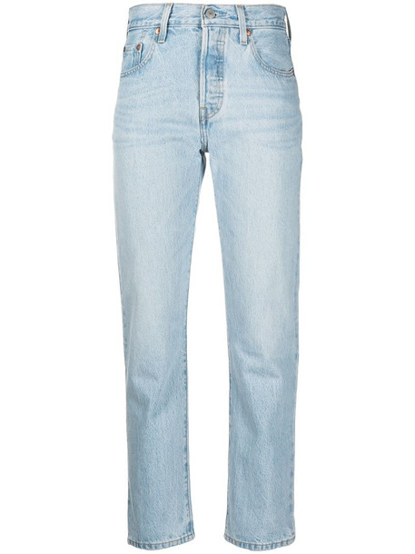 Levi's mid-rise straight-leg jeans in blue