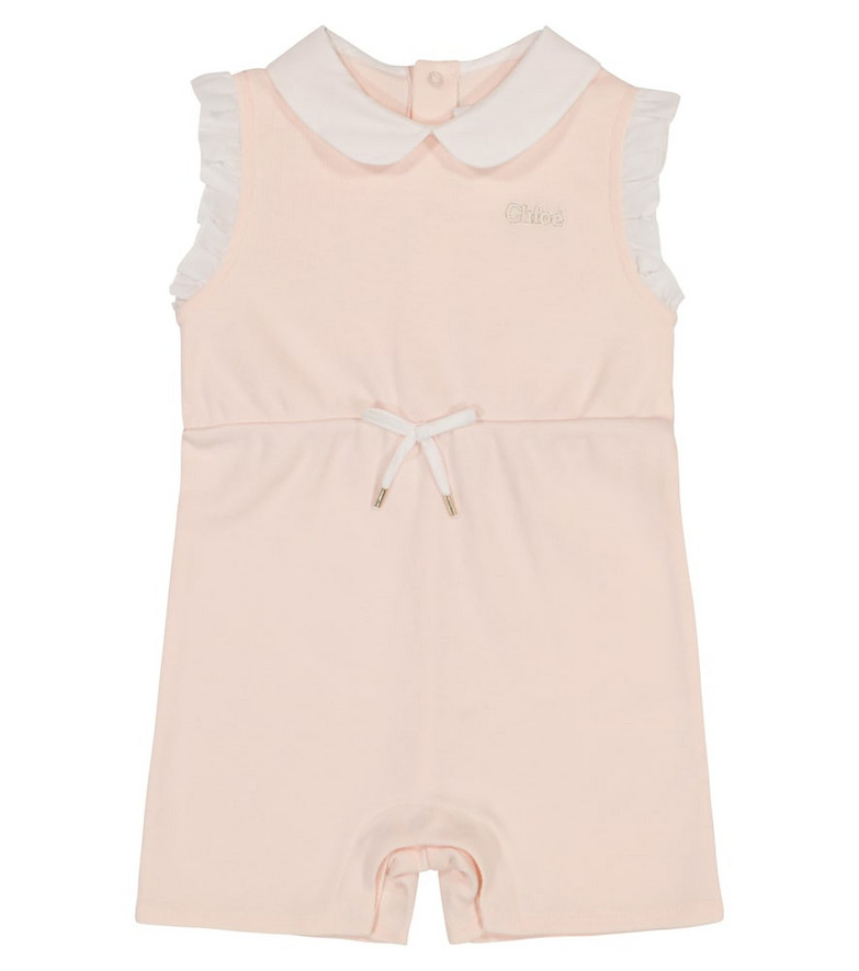 Chloé Kids Baby cotton playsuit in pink