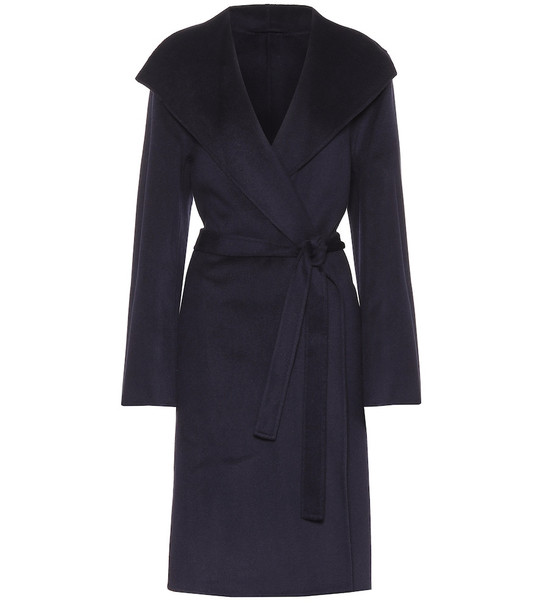 Joseph Lima wool and cashmere coat in blue