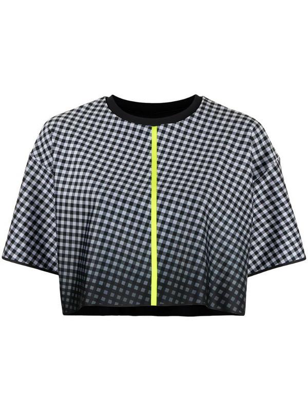 Ultracor geometric-print cropped T-shirt in black