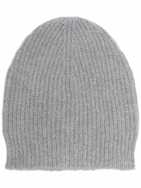 Fabiana Filippi ribbed-knit knitted beanie - Grey