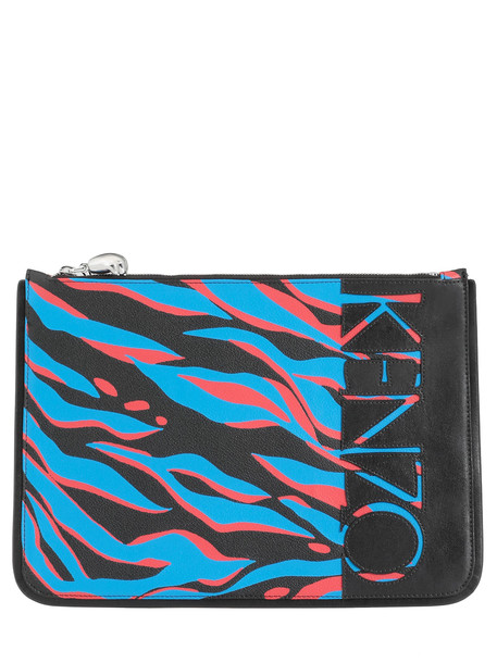 Kenzo A4 Pouch in cobalt
