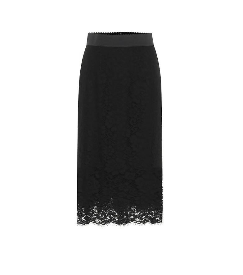 Dolce & Gabbana Lace midi skirt in black