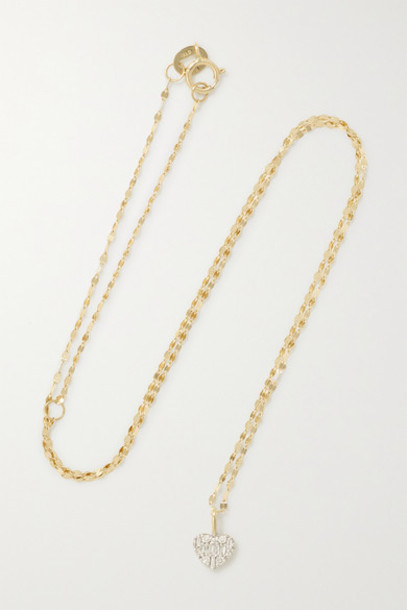 STONE AND STRAND - Heart Of The Matter Gold Diamond Necklace