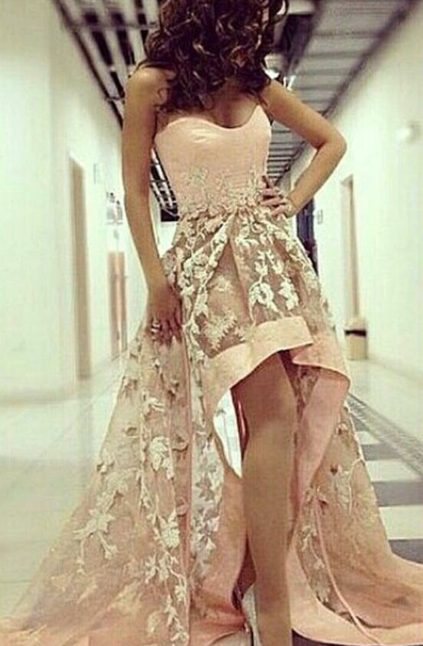 dress prom dress pink dress pink floral flowers floral dress