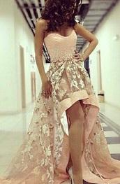 dress,prom dress,pink dress,pink,floral,flowers,floral dress
