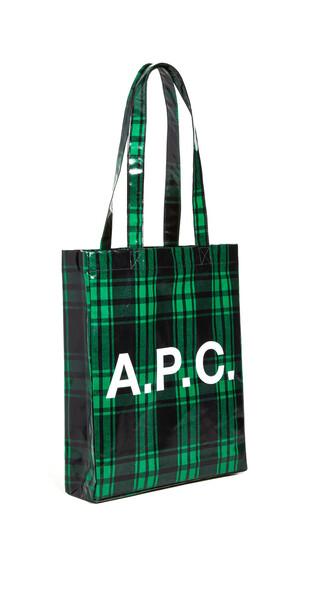 A.P.C. A.P.C. Tote Lou in green