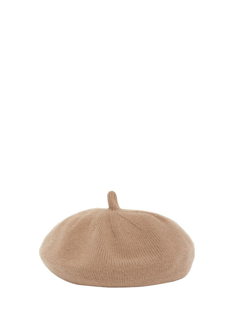 MAX MARA Evelin Cashmere Knit Hat in camel