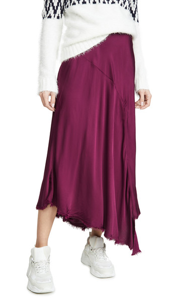 Nation LTD Handkerchief Skirt in plum