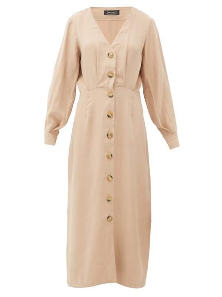 Haight - Camila Pleated Midi Dress - Womens - Tan