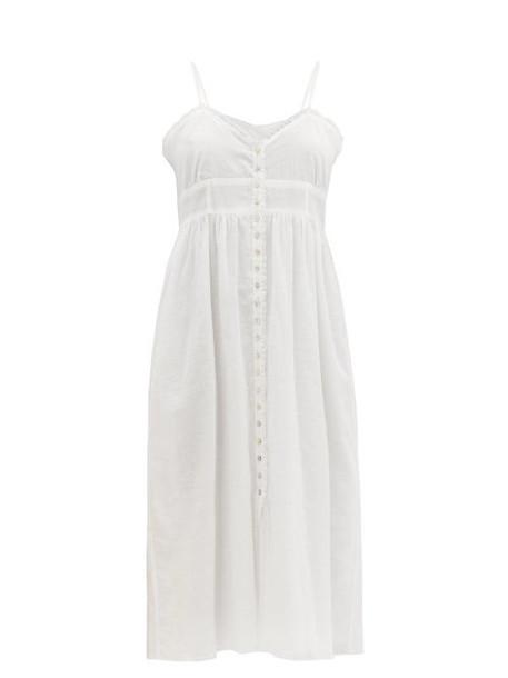 Loup Charmant - Avalon Ruffled Cotton-voile Dress - Womens - White