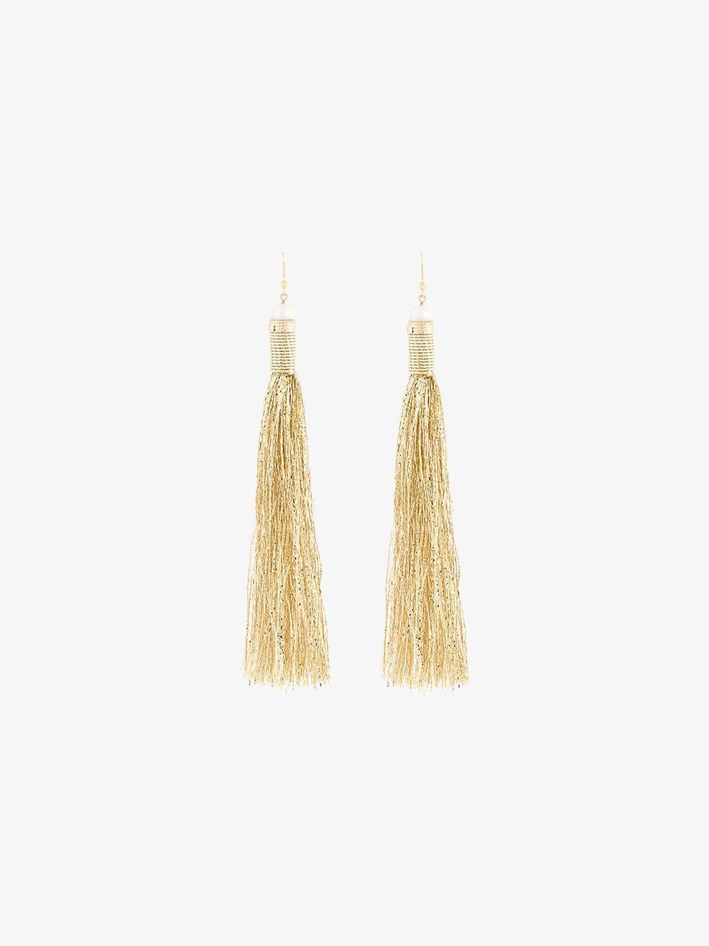 Rosantica Maori tassel earrings in metallic