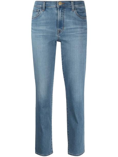 J Brand Adele straight-leg jeans in blue