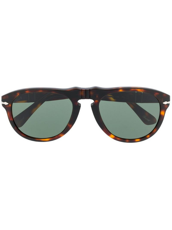 Persol tortoiseshell-effect tinted sunglasses in brown