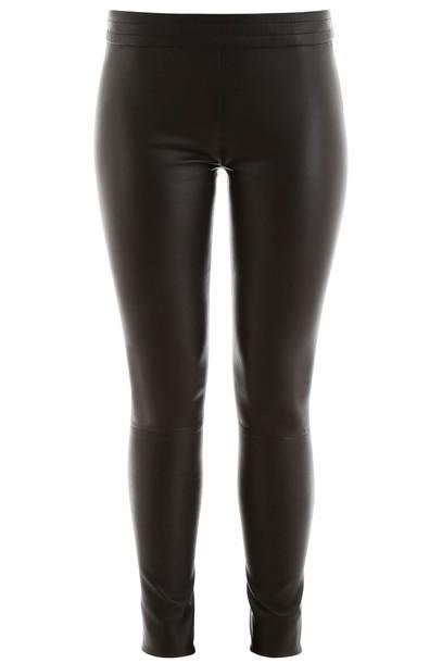 DROMe Stretch Nappa Leggings in black