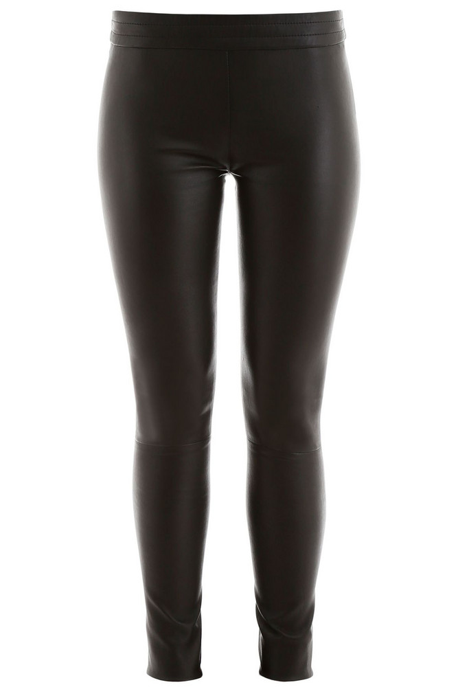 DROMe Stretch Nappa Leggings in black