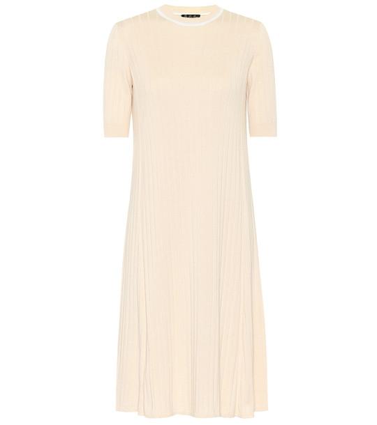 Loro Piana Dakhla silk and cotton midi dress in beige
