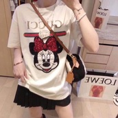 shirt,gucci,minnie mouse,mickey mouse,girl