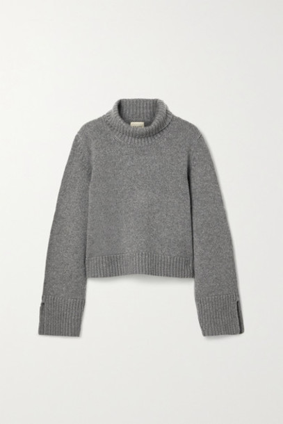 Khaite - Marion Cashmere Turtleneck Sweater - Gray