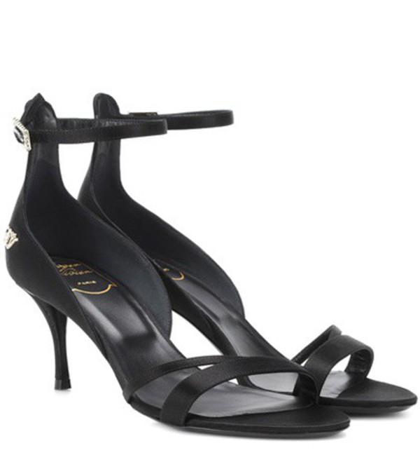Roger Vivier Satin sandals in black