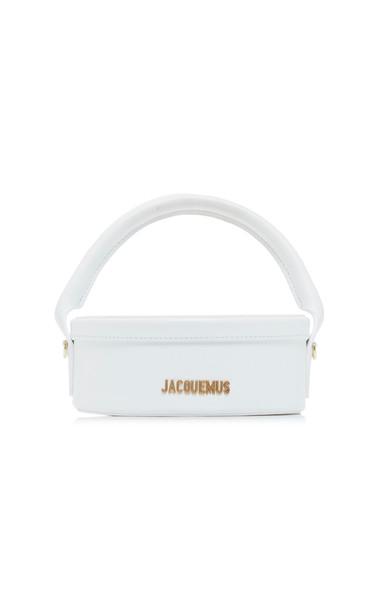 Jacquemus La Boite Leather Shoulder Bag in white
