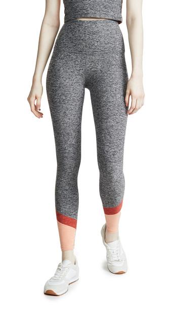 Beyond Yoga Spacedye Color In High Waisted Leggings in black / white
