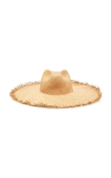 Johanna Ortiz Palma de Iraca Woven Straw Hat in neutral