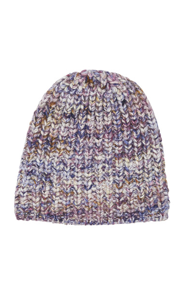 The Elder Statesman Mushroom Cable-Knit Cashmere Beanie in multi