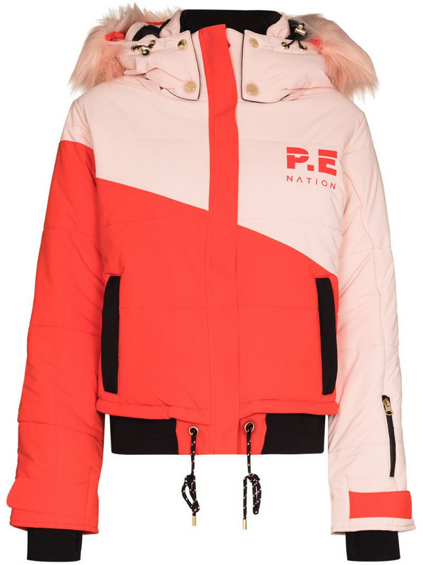 P.E Nation Amplitude hooded ski jacket in red