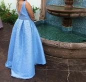 dress,prom dress,open back dresses,sky blue dress