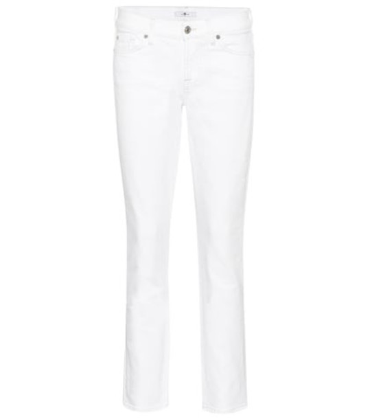 7 For All Mankind Roxanne mid-rise skinny jeans in white
