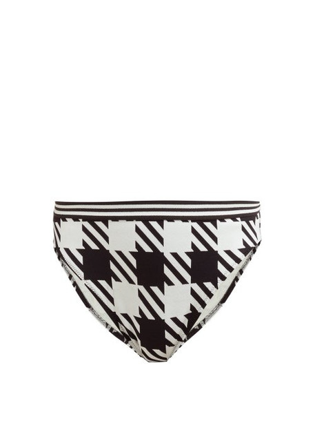 Solid & Striped - The Christie Gingham Bikini Briefs - Womens - Black White