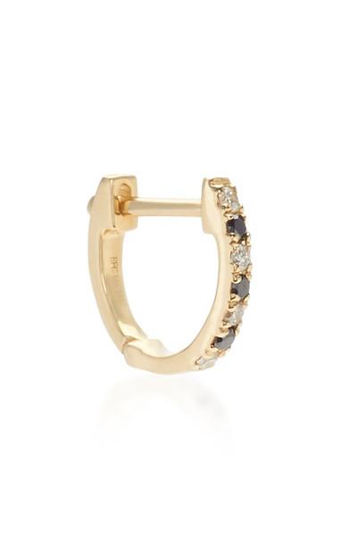 EF Collection Mini 14K Gold Diamond Single Huggie Earring