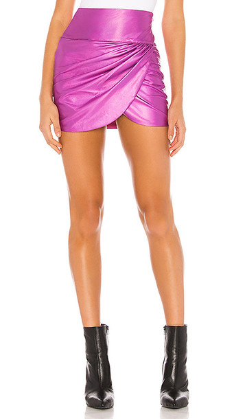 superdown Silvia Mini Skirt in Pink