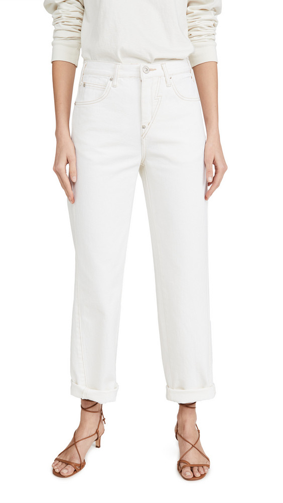 pushBUTTON Backup Color Jeans in ivory