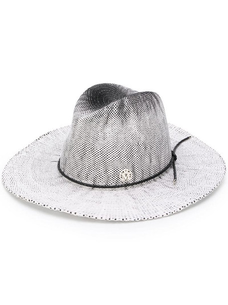 Maison Michel Zango fedora hat in white