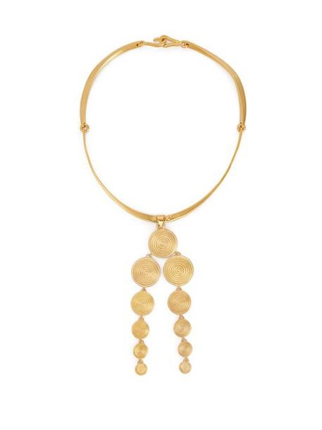Joelle Kharrat - Moneta Drop Pendant Necklace - Womens - Gold