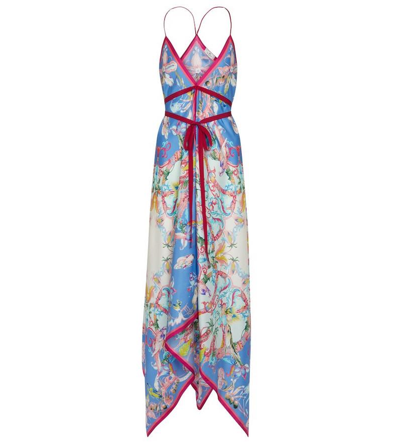 ETRO Printed asymmetric silk midi dress