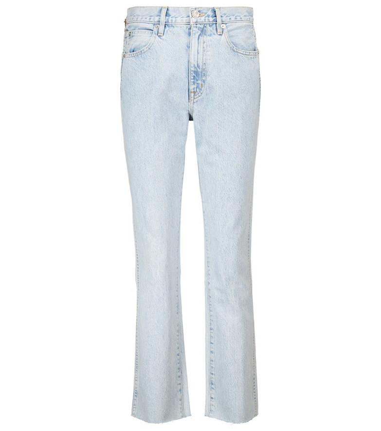 Slvrlake Hero high-rise straight jeans in blue