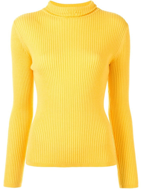 A.P.C. Carven ribbed jumper in yellow