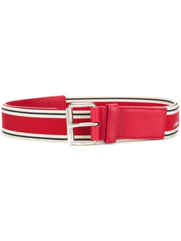 A.N.G.E.L.O. Vintage Cult webbing logo belt in red