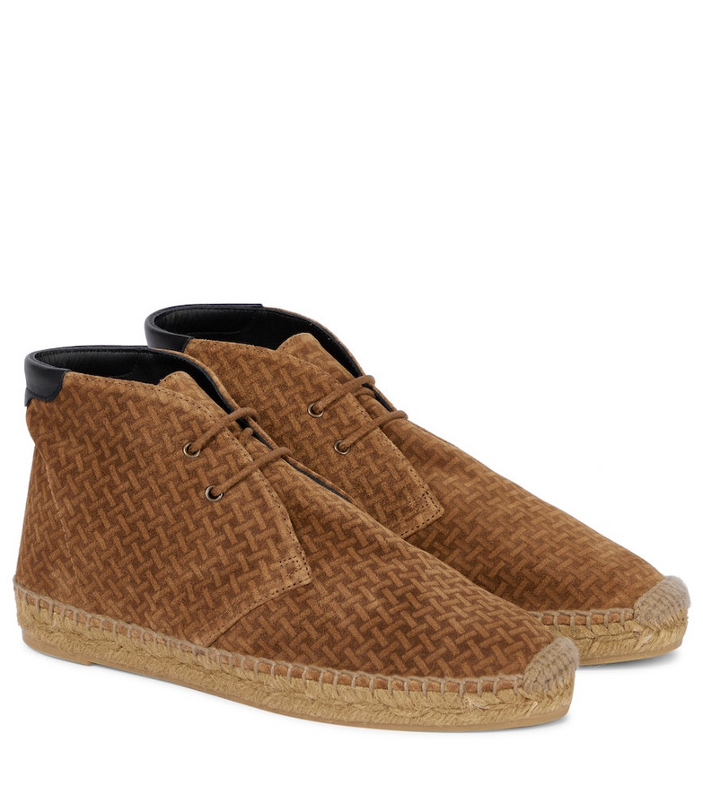Saint Laurent Exclusive to Mytheresa – Suede espadrille ankle boots in brown