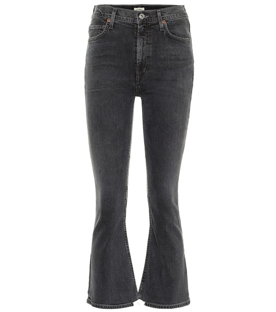 Citizens of Humanity Demy high-rise cropped jeans in grey